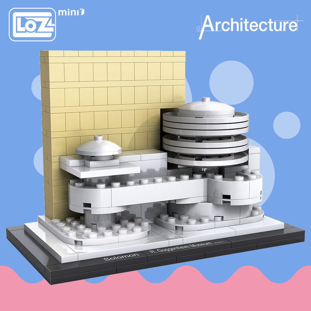 LOZ ötletek Mini Block Guggenheim Múzeum Világhírű építészet Sorozat DIY Oktatási blokkok Vicces modellkörök Épület 1005
