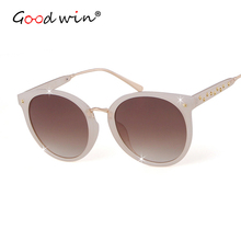 Good Win Women Fashion Sunglasses Round Star Glasses Sun Frame Gradient Black For Mens UV400 zonnebril vrouwen