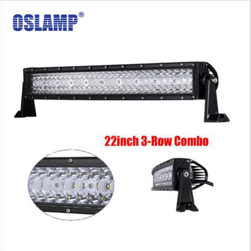 Oslamp 22 LED Car Light Work Bar 3 Row CREE Chips 240W Offroad Driving Combo Beams fit Pickup Tractor Truck SUV 4X4 Wagon jeep oslamp 32 300w cree chips led work light bar offroad led bar lights combo beam led driving lamp for truck suv 4x4 4wd 12v 24v