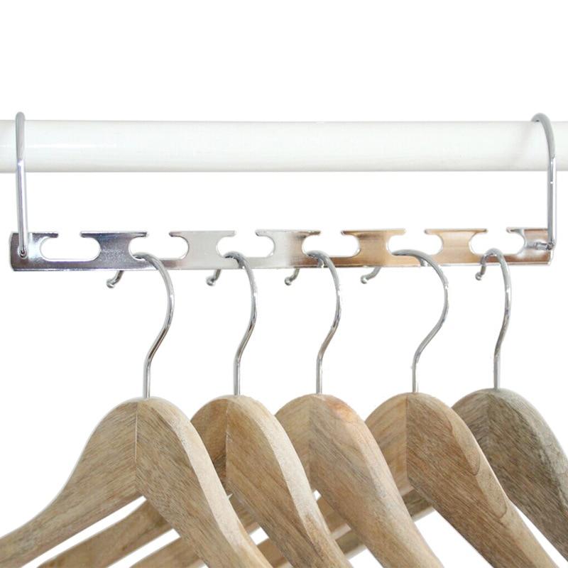 Multi-Functional Closet Folding Metal Clothing Hanger Space Saver Wardrobe Organizer Rack Functional Folding Metal Drying Rack