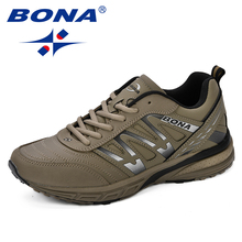 BONA New Running Shoes Men 2018 Autumn New Men Sneakers Lace Up Low Top Jogging Shoes Man Athletic Footwear Breathable Trendy 2018 autumn new man breathable sneakers high quality leather luxury men sneakers streetwear casual men lace up sneakers footwear