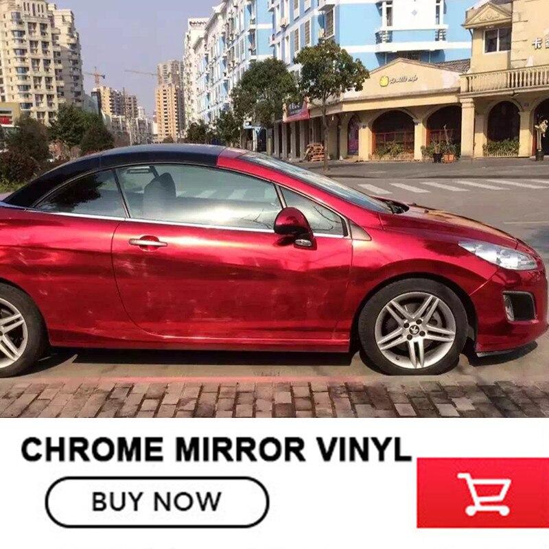OPLAR 1.52MX20m красный зеркало хром винил обернуть (малых профитов но быстрой отдачи) бесплатная доставка в большинстве стран реальную картину