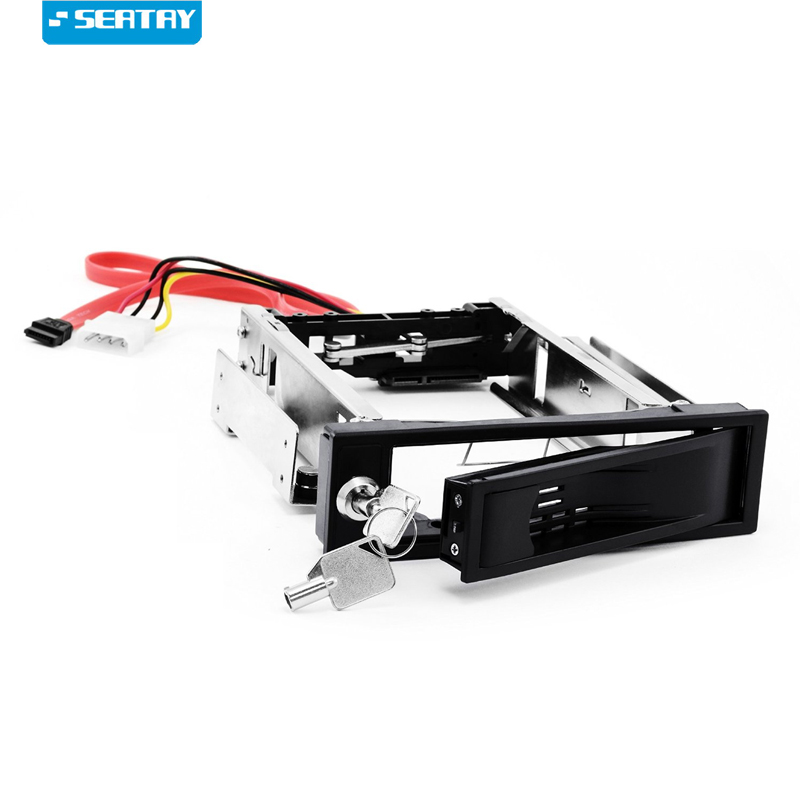 3.5 caddy / SATA Mobile Rack|SATA I / II / III SSD/HDD Carrier in 5.25 drive bay to 6.0 Gb/s | Anti-vibration Kit | Lockable image