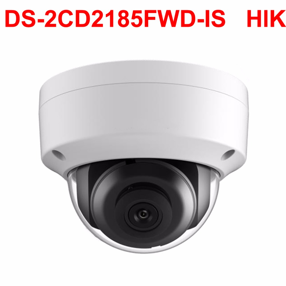 Megapixel Ip camera 8mp DS-2CD2185FWD-IS Network Dome Cam H.265 3DNR IP66 audio CCTV Video Surveillance Pure English version hikvision new released 8mp h 265 network dome camera ds 2cd2185fwd i 3d dnr bullet camera 3840 2160 resolution ik 10 ip 67