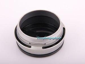 Image 4 - 실버 49mm 렌즈 어댑터 링 + 메탈 렌즈 후드 + 후지 필름 후지 x100 x100s x100t 용 렌즈 캡 교체 렌즈 후드 LH X100 x70