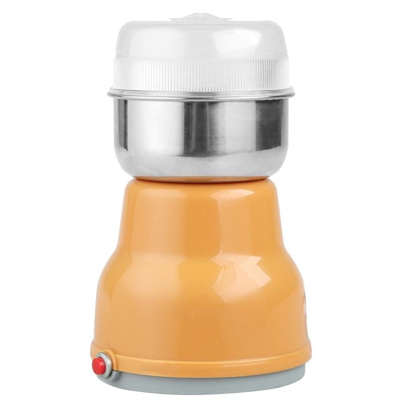 Electric Stainless Steel Coffee Bean Grinder Herbal Grain Grinder Home Kitchen Grinding Milling Machine Coffee Accessories Eu|Electric Coffee Grinders| |  - title=