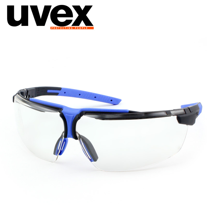 UVEX 9190275 Safety Goggles Transparent Lenses Protective Eye Impact Resistance/Lsolated UV Eye Clear Safety Glasses YU019 pair of safety adjustable high impact resistance outdoor kneepad