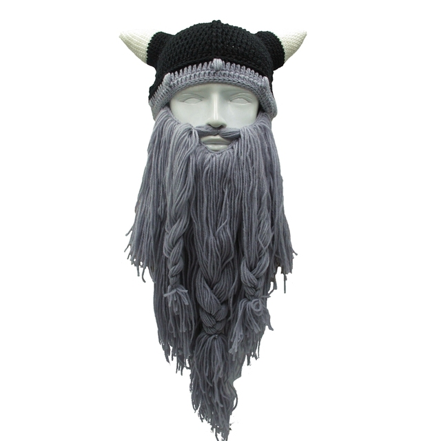 Funny Men's Vikings Themed Cotton Knitted Hat