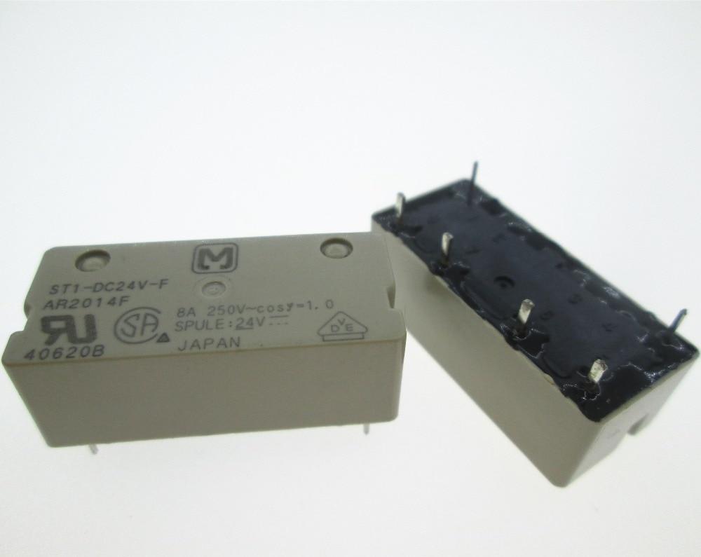 HOT NEW relay ST1-DC24V-F ST1-24VDC-F ST1-DC24V ST1DC24V 24VDC DC24V 24V DIP6 hot new relay nt73 2c 12 dc24v nt73 2c 12 dc24v nt732c12 nt73 2c nt73 dc24v 24vdc 24v dip5