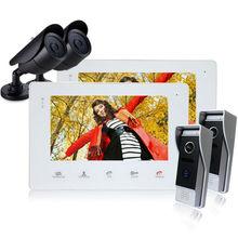Homefong 7 Zoll Farbe LCD Video-türsprechanlage Sprechanlage Türöffner Entsperren Türklingel intercom video türklingel kamera 1200 TVL