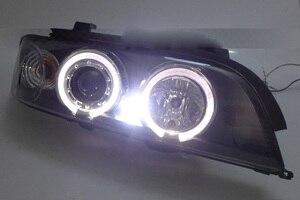 Image 4 - 2 pcs przedni reflektor samochodowy dla E39 reflektorów 1996 ~ 2003 rok, 520 528 530 XENON HID reflektorów H7 Xenon obiektyw dwukrotnie U kąt oczy