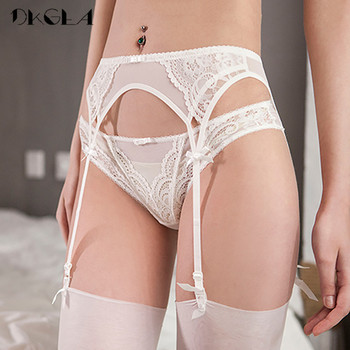 Lace White Garters Sexy Women Lingerie Temptation 2 Piece Panties+Garter Black Embroidery Suspender Belt Wedding Garters Belts