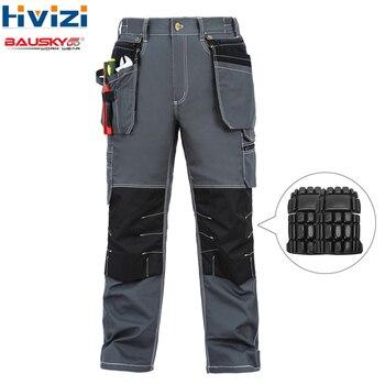 Mesn pantaloni di cotone di usura del lavoro abbigliamento mulit strumento tasche dei pantaloni/pantaloni durevole e resistente all