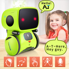 Cute Smart Robot toy Humanoid doll robotica intelligent dialogue robot for children Companion Toys Touch Sensing walking dancing(China)