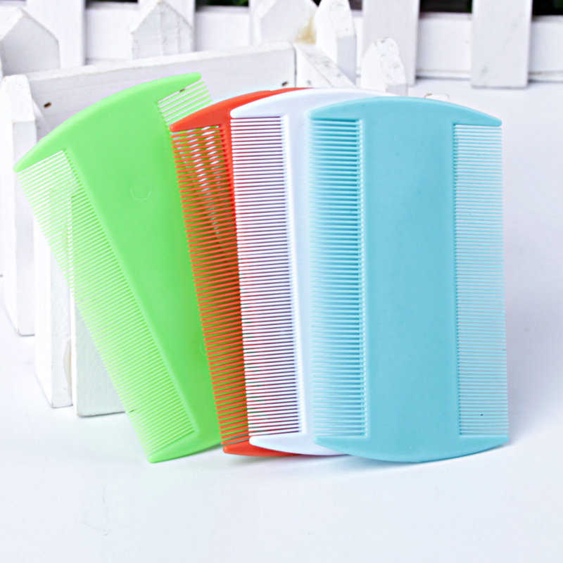 Plastic Double Sided Nit Fine Tooth Head Lice Hair Combs for Kids Pet Cat Dog Flea Dog Bath Cat Hair Cleaning Supplies
