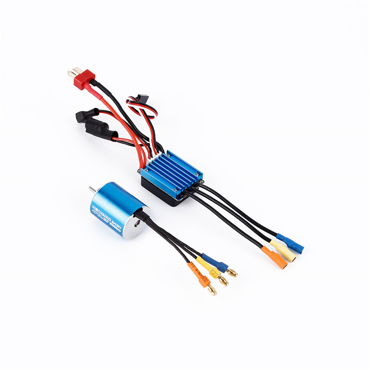 New Arrival 2430 7200KV Sensorless Brushless Motor with 25A Brushless ESC for 1/16 1/18 RC Car DIY Accessories Spare Parts 3650 3900kv 4p sensorless brushless motor 60a brushless elec speed controller esc w 5 8v 3a switch mode bec for 1 10 rc car
