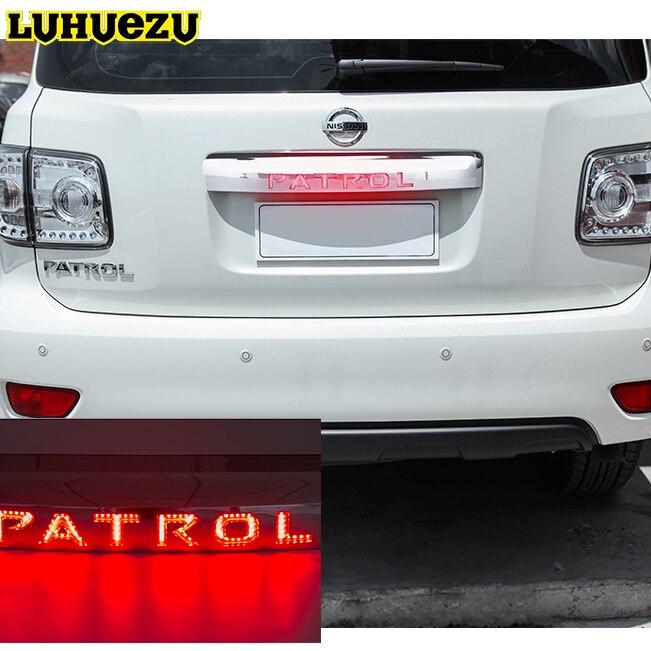 Для Nissan Patrol y62 Armada Интимные аксессуары Свет Системы Chrome Задняя Крышка багажника Крышка стоп