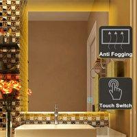 Светодиодный настенный светильник для ванной комнаты с подсветкой, противотуманное зеркало для макияжа, прямоугольное зеркало для душа, ва