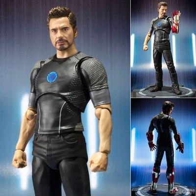 15 CM SHF anime figure l'homme de fer vengeur Tony Stark figurine à collectionner modèle jouets pour garçons
