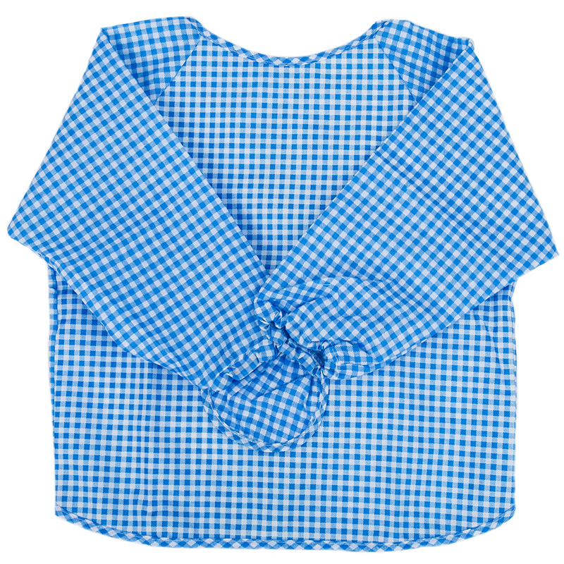 Baby Long Sleeve Apron Overall Food Catcher Bib Waterproof,blue