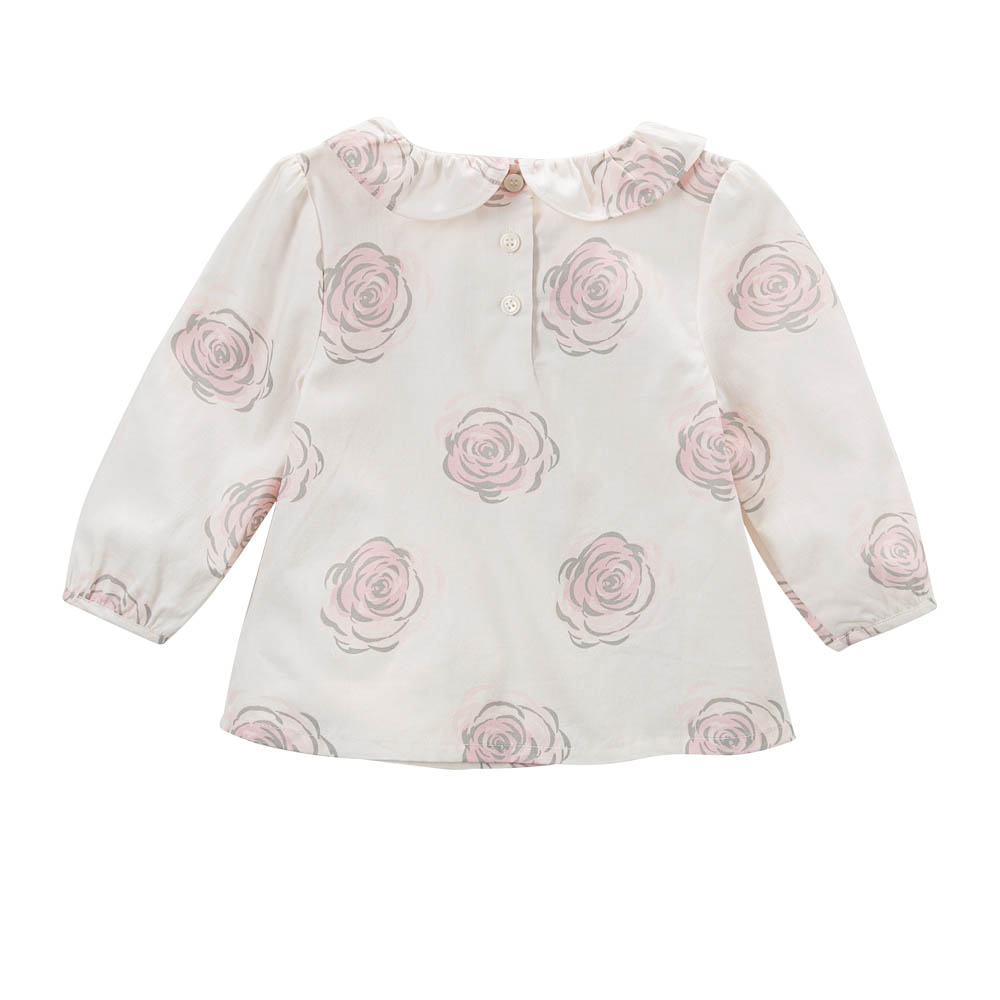 d5a4f3e7b DB5039 dave bella baby girls A line tops flower printed blouses design  boutique clothes - Best Kids Clothing Stores Online