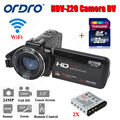 Free shipping!ORDRO 1080P HDV-Z20 Portable Camera Camcorder Digital Video Recorder 32GB W/ 2xBattery