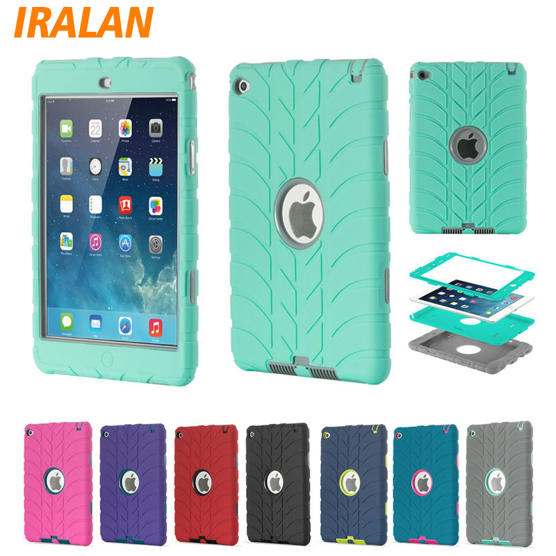New Hybrid Armor Case For iPad Mini 4 Kids Safe Shockproof Heavy Duty Silicone Hard drop resistance ipad tablet accessories