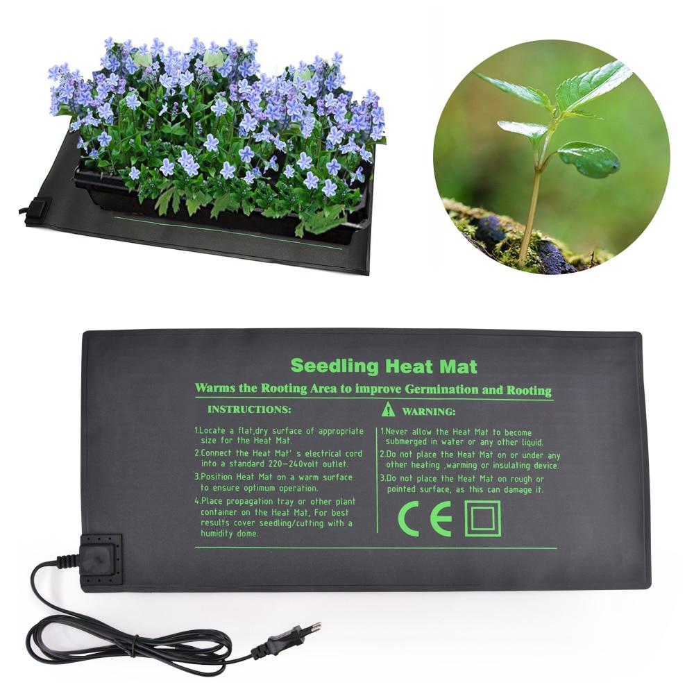Seedling Heat Mat Electric Germinator Greenhouse Heating Pad Plant Seed Germination Gardening Pad Waterproof Garden Supplies
