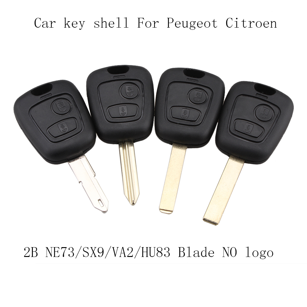 цена 2 Buttons For Citroen C1 C4 for Peugeot 106 107 207 307 407 206 306 406 Replacement Remote Key Case Shell Entry Fob онлайн в 2017 году