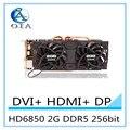 Новая видеокарта HD6850 2 Г DDR5 256bit независимая игра видеокарта HDMI + DVI бесплатная доставка