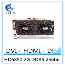 New Graphics card HD6850 2G DDR5 256bit independent game video card HDMI+DVI free shipping
