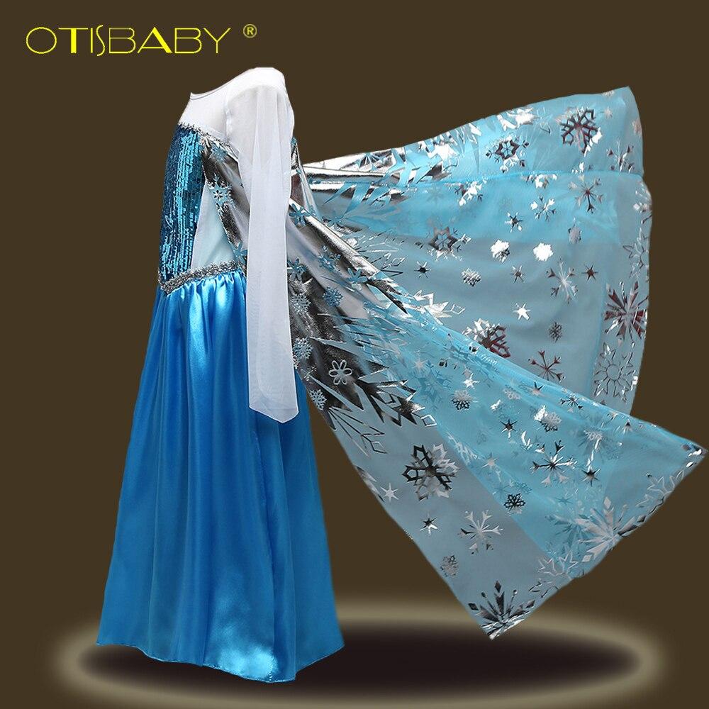 Sommer Anna Elsa Prinzessin Kleid für Mädchen Kinder Schnee Königin Cosplay Kostüm für Halloween Party fantasia Vestido Infantis