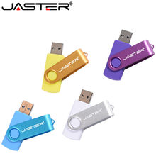 Jaster Hot Fashion Plastik Berputar Penyimpanan Eksternal U Disk 2.0 4 GB 8 Gb 16 GB 32 GB 64 GB thumb Drive Flash Kartu(China)