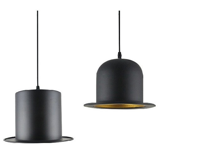 Modern Style chandeliers lamp Jeeves Wooster Top Hat Pendant Dome cap LED lamp copy aluminum or Original fluff hand made wool felt hat aluminum suspension lamp cap jeeves and wooster pendant light hanging lighting dinning hall couture