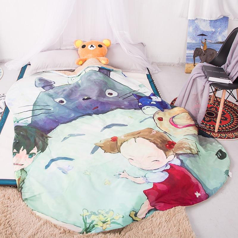 1pcs Cartoon Totoro Summer Cool Blanket Air Conditioning Comforter Children Adult Anime Totoro Blanket Cool In Summer Bedding