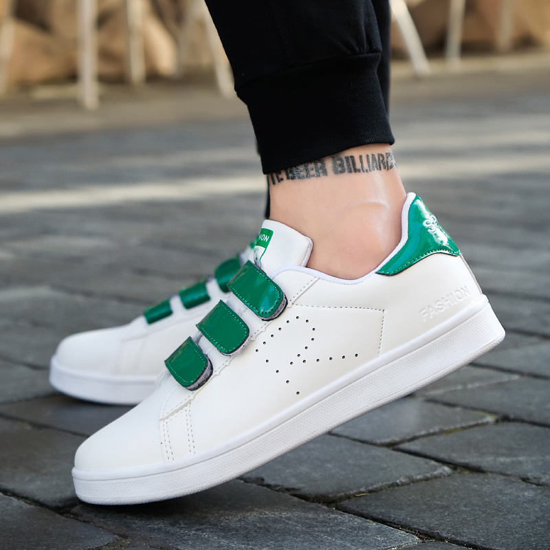 Winter Magic White Shoes Men's Shoes Korean Version of Fashion Board Shoes Youth Trend Sneakers Casual Shoes Middle Student 5