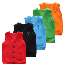 Autumn&Winter Kids Vest Waistcoats Cotton Boys Girls Vests Candy-Colors Children's Waistcoats Kids Sleeveless Jacket Outerwear