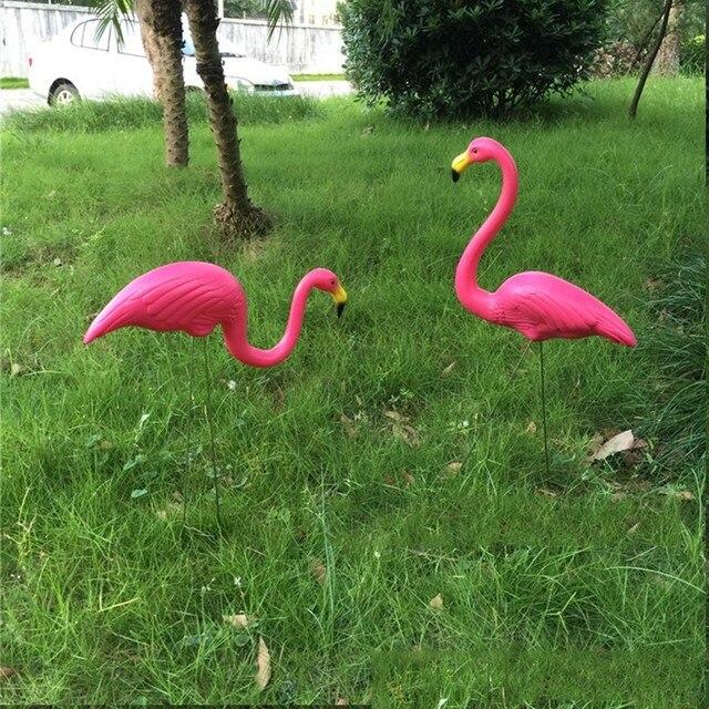 20 pcs/lot flamant rose en plastique Décoration De jardin cour