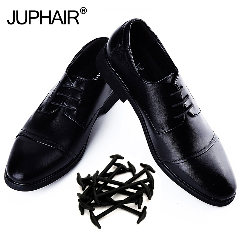 JUP1 Set/10 pcs Fashion Adult Leather Shoes Not tie Lazy Shoelaces Import Silicone Elastic Shoes Fashion Are colorful Shoestring