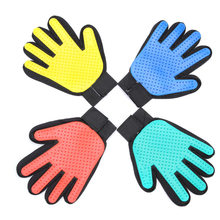 Pet Hair Glove Comb Pet Dog Cat Grooming Cleaning Glove Deshedding Left Right Hand Hair Removal Brush Promote Blood Circulation(China)