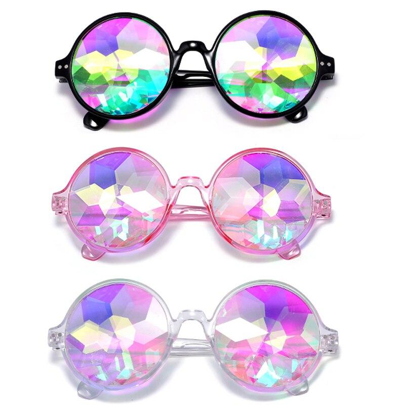 2 pcs Kaleidoscope Glasses Factory Crystal Lens Kaleidoscope Sunglasses Party Glasses,Rave 3d Glasses