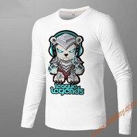 LOL Long Sleeve T Shirts Crew Neck Top Printing Tees Unisex Slim Fit Game Themed Tshirts Black S