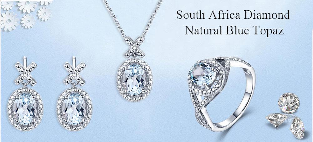 silver diamond blue topaz CASE06157SA-1