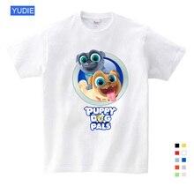 2019 Summer Cartoon Funny Dog Friends T-shirts Girls Short Sleeve T Shirt for Children Clothes YUDIE