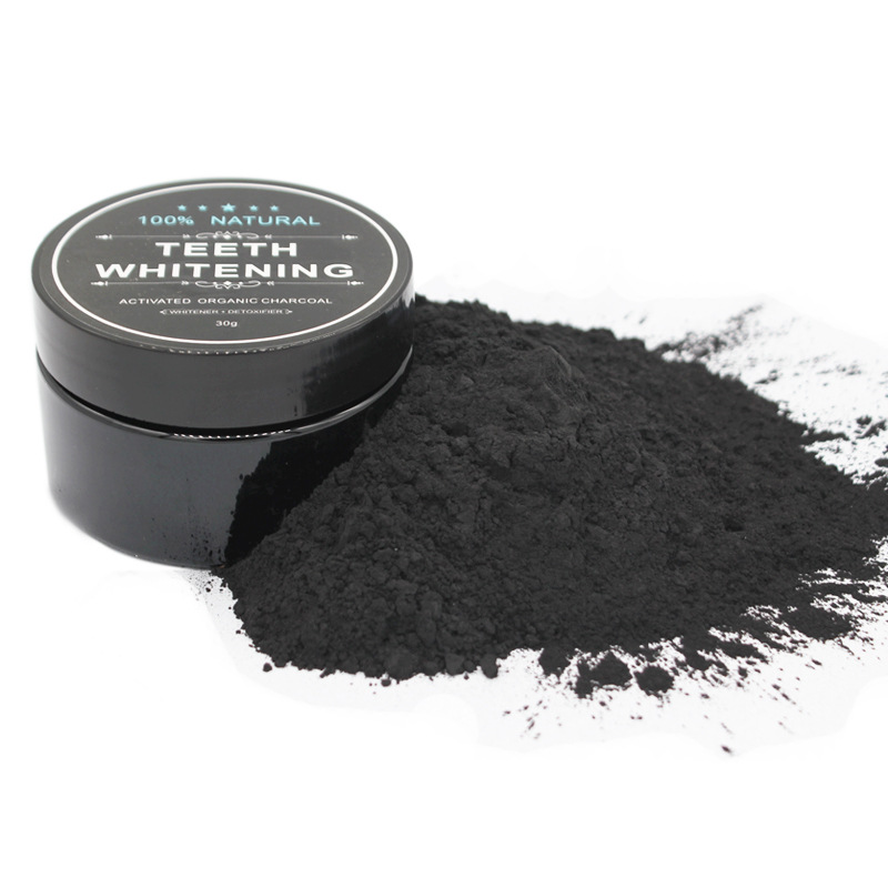 Daily Use Teeth Whitening Scaling Powder Oral Hygiene Cleaning Activated Bamboo Charcoal Black Powder 100% Natural 30g