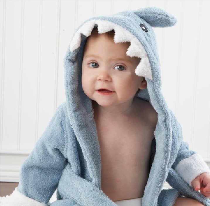 0-24meses/primavera otoño niños Toalla de baño con capucha bebé niñas niños Pijamas dibujos animados niños Albornoz infantil vestido de bautizo BC1421