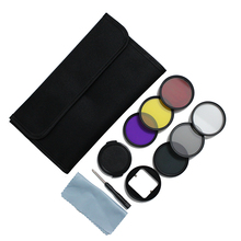 PHTICAL Diving Filter For GoPro Hero 4 3+ 3 ND4+UV+CPL Filter+Yellow/Purple/Red Filter for SJ4000 Xiaomi Yi 4K Housing Case