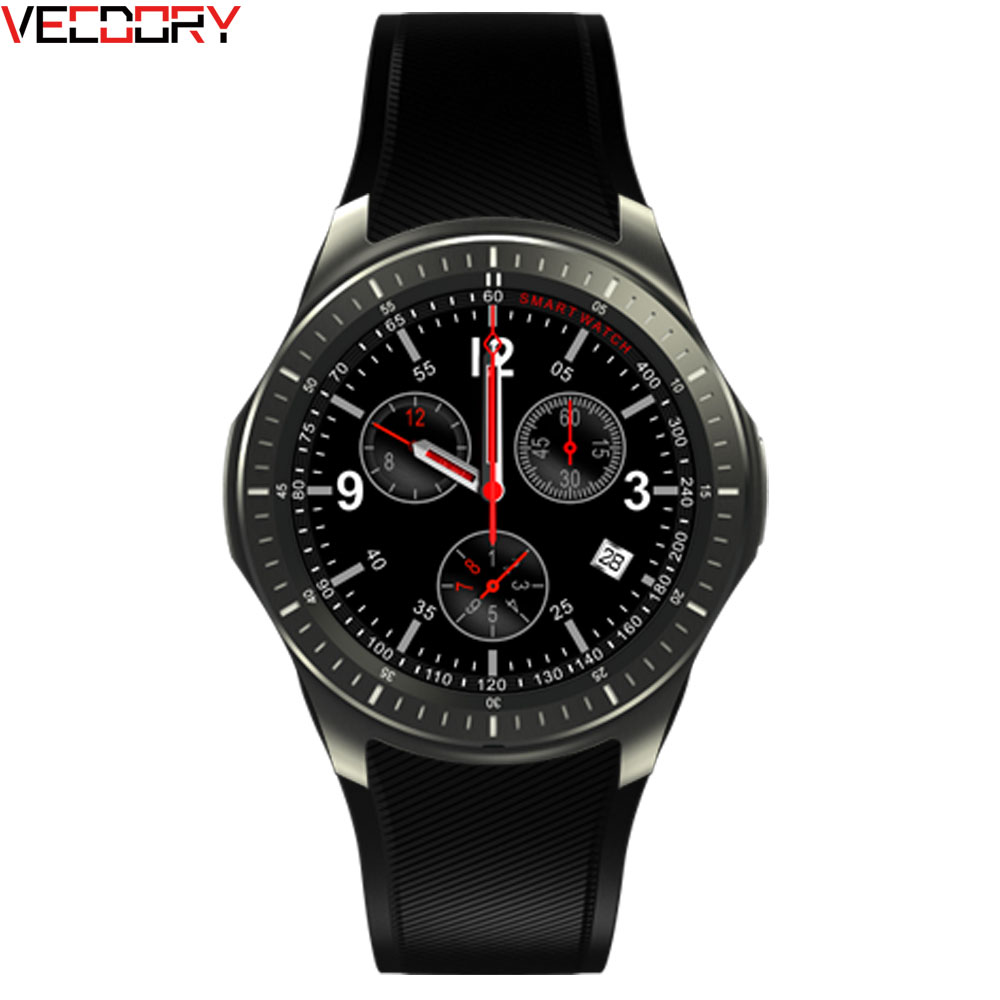 Vecdory Heart Rate Monitor Bluetooth Smart Watch Magnetic Charge Call Fitness SW58 Smartwatch Sim GPS Tracker Smart Watches
