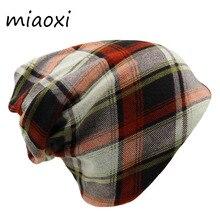 Miaoxi nueva alta calidad de la manera mujeres gorras sombrero del otoño  gorros skullies adulto rayas d2dd593f837