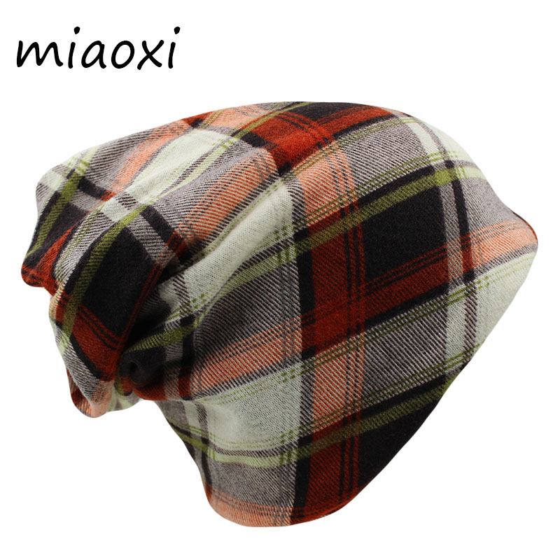 miaoxi New High Quality Fashion Women Hat Caps For Girl Autumn Beanies Skullies Adult Striped Female Scarf Hip Hop Bonnet Sale